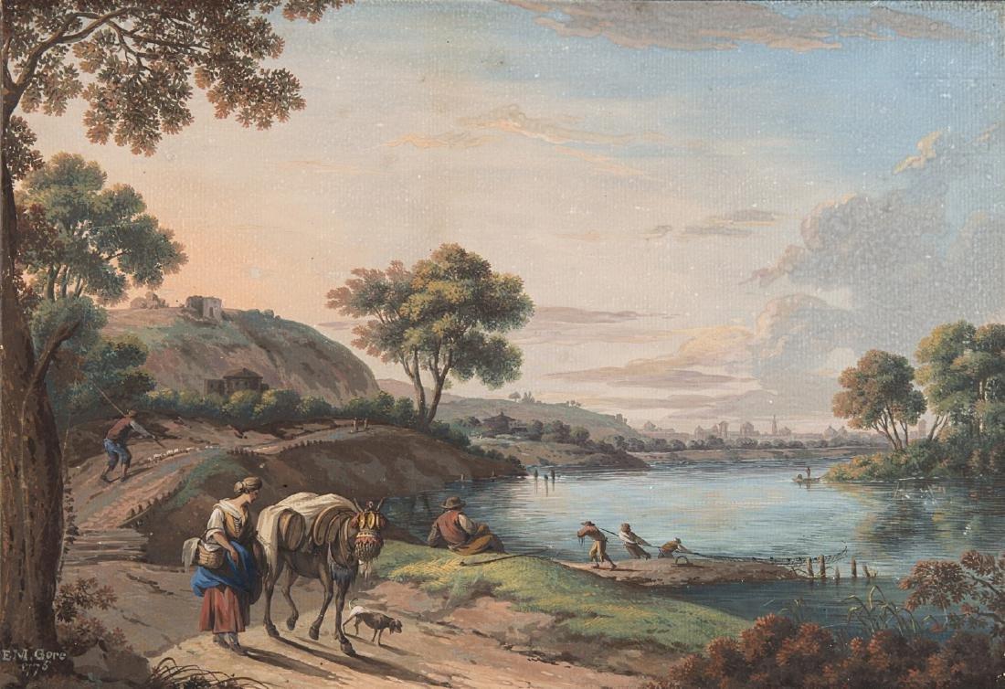 """Elisazabeth M. Gore (1754 - 1802)""""Paesaggio con"""