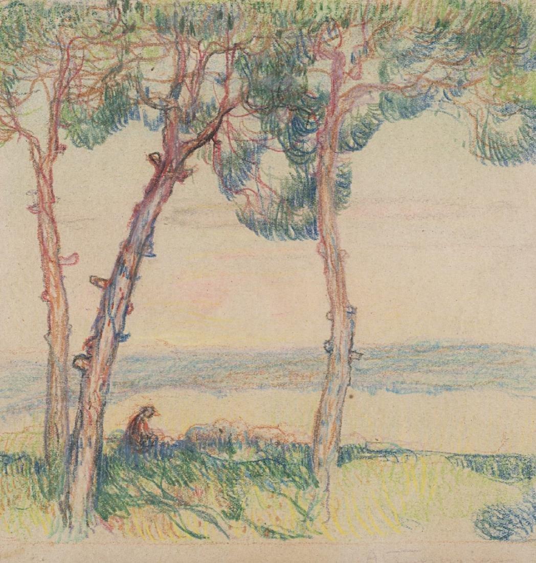 """Adolfo Tommasi (Livorno 1851 - Firenze 1933)""""Paesaggio"""