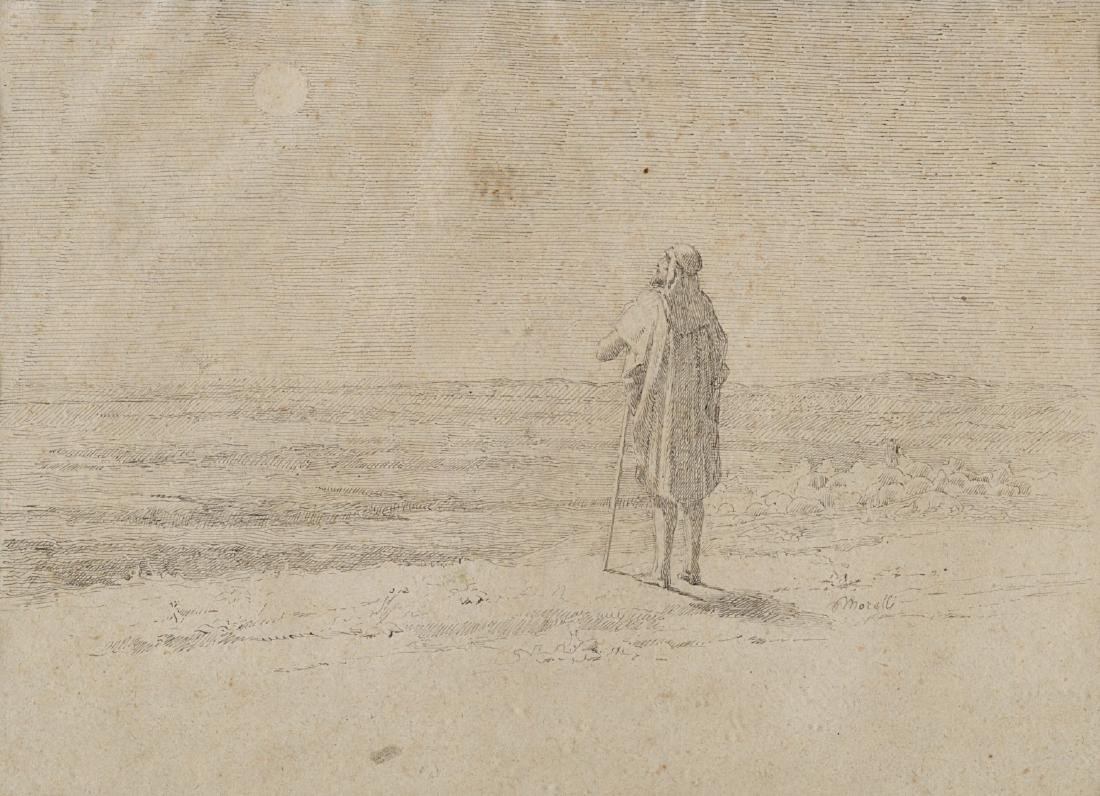 """Domenico Morelli (Napoli 1823 - 1901)""""Figura orientale"""""""