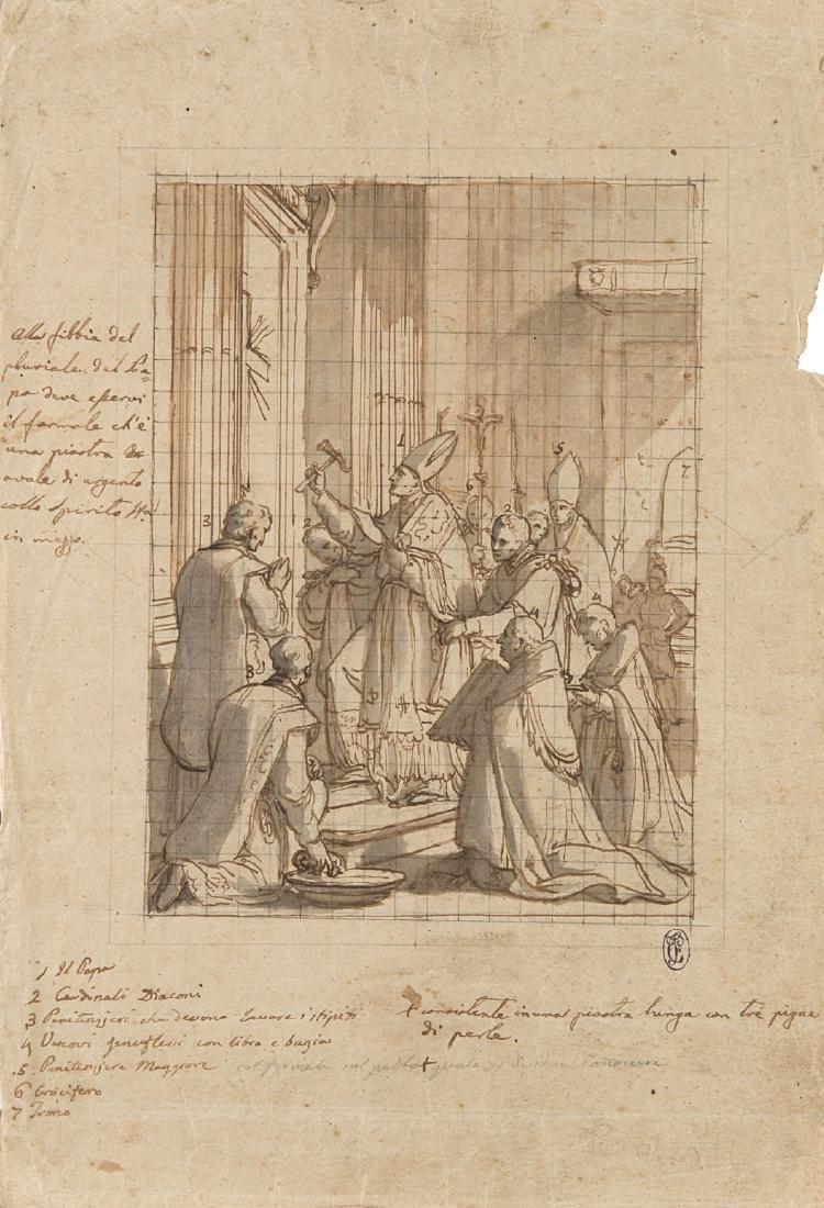 """Francesco Podesti (Ancona 1800 - Roma 1895)(attr.) """"Il"""