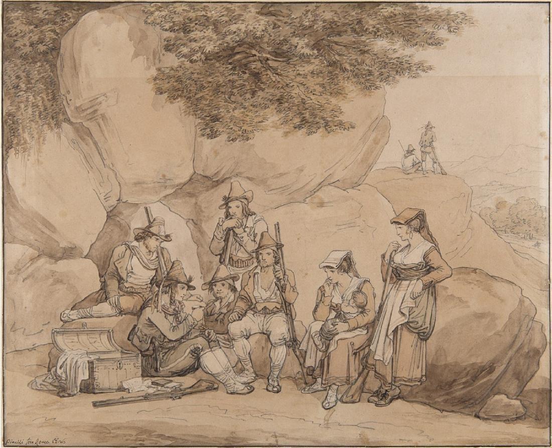 """Bartolomeo Pinelli (Roma 1781 - 1835)""""Briganti"""" penna e"""