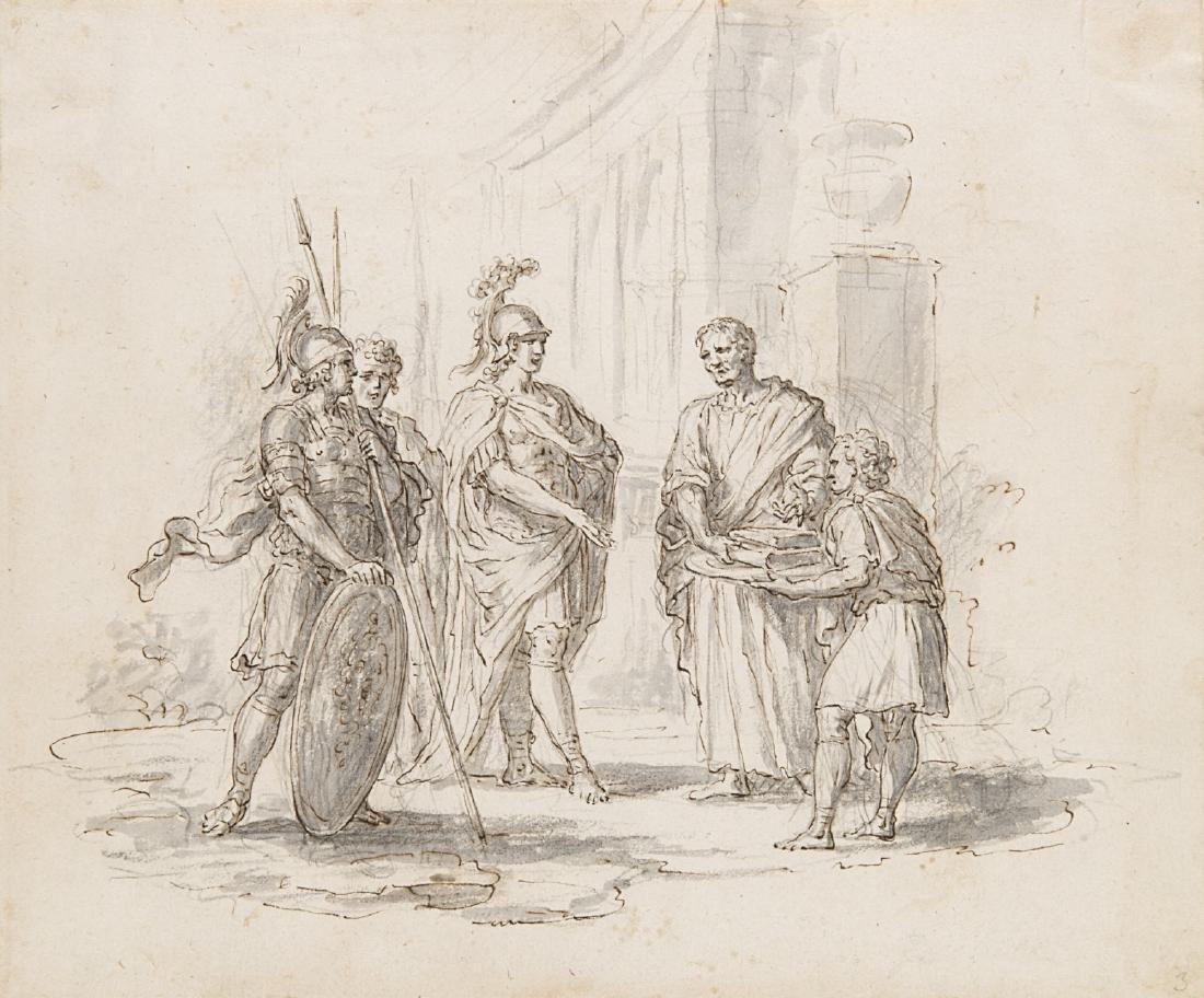 "Giuseppe Zocchi (Firenze 1711 - 1767)""Scena romana"""