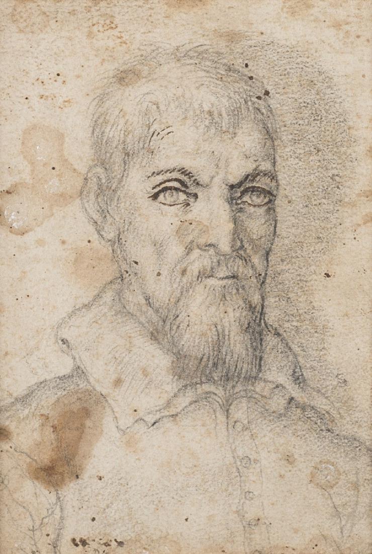 """Artista degli inizi del secolo XVII """"Ritratto virile"""""""