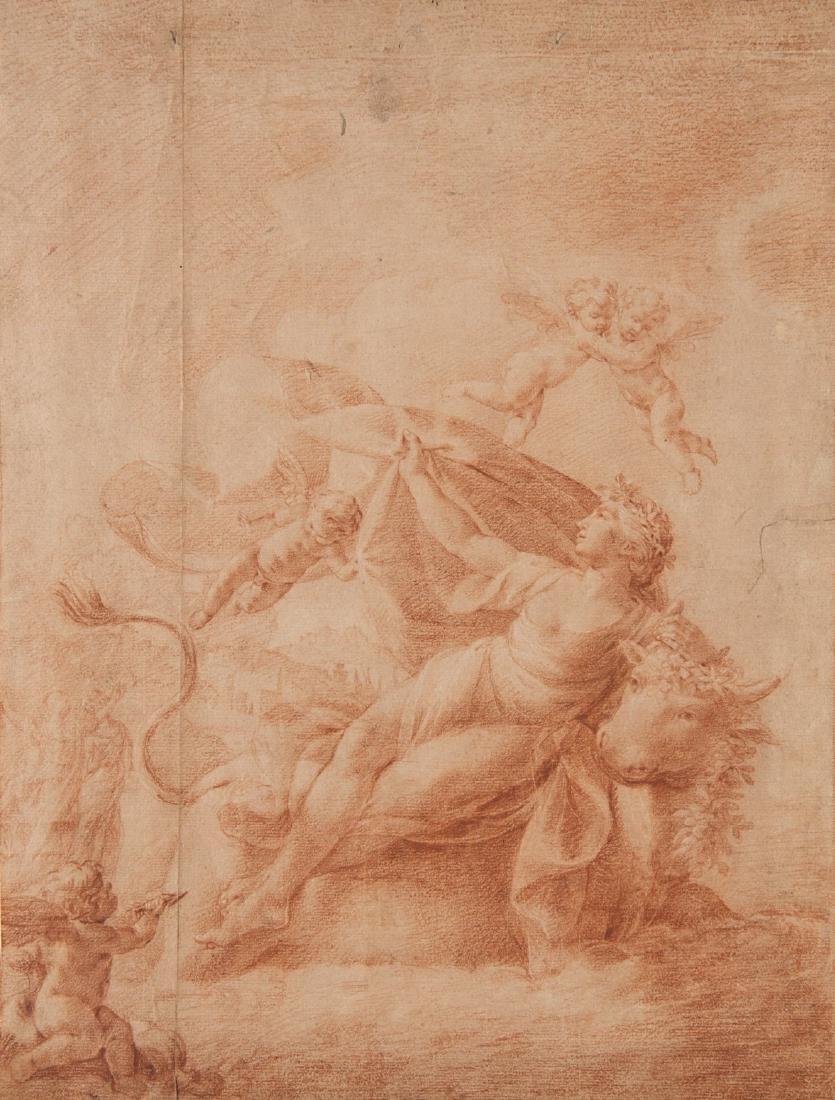 """Scuola bolognese, secolo XVIII """"Il ratto di Europa"""""""