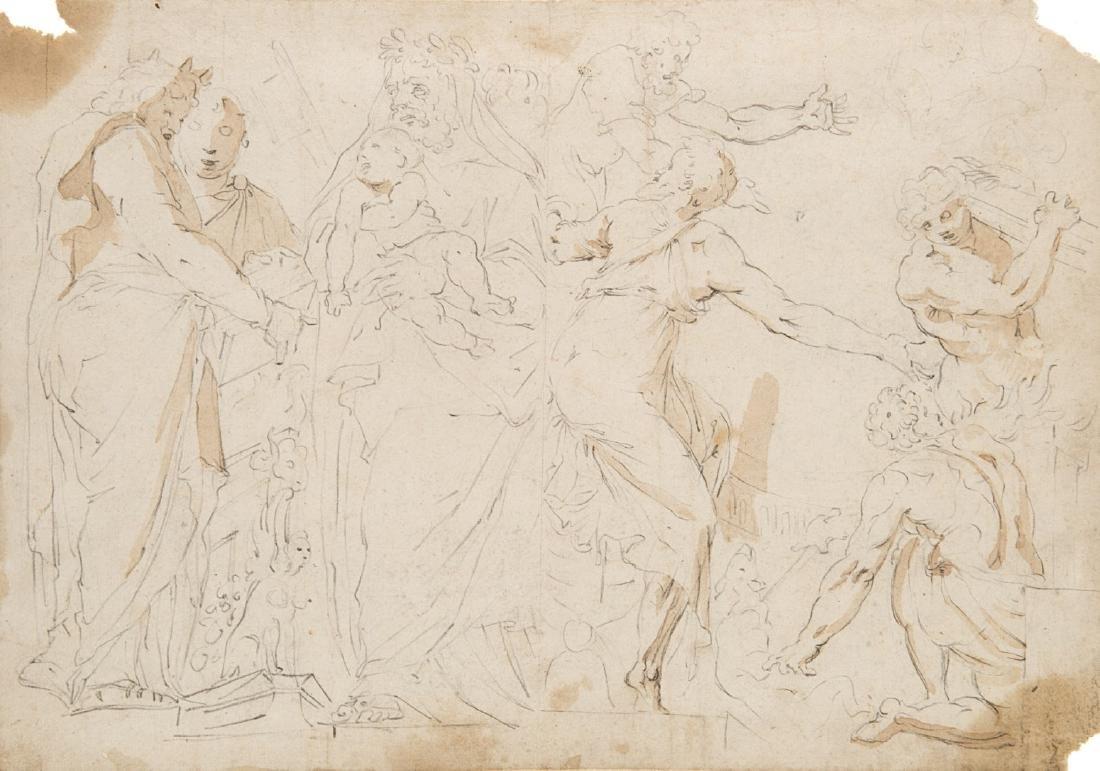 """Da Polidoro da Caravaggio """"Scena classica (recto) e"""