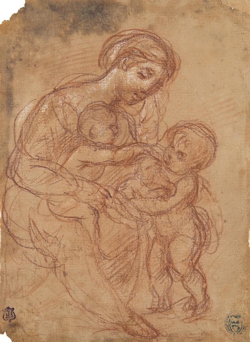 """Scuola italiana, fine secolo XVIII """"Madonna con bambino"""