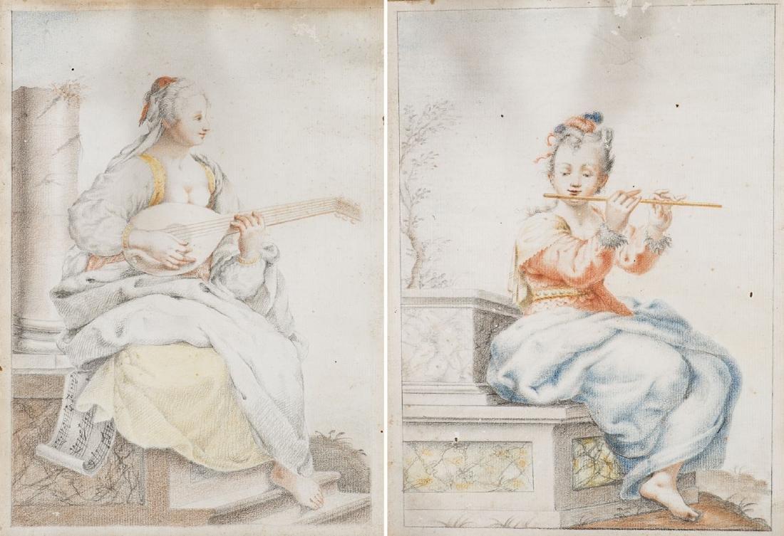 Artista del secolo XVIII. Due disegni raffiguranti
