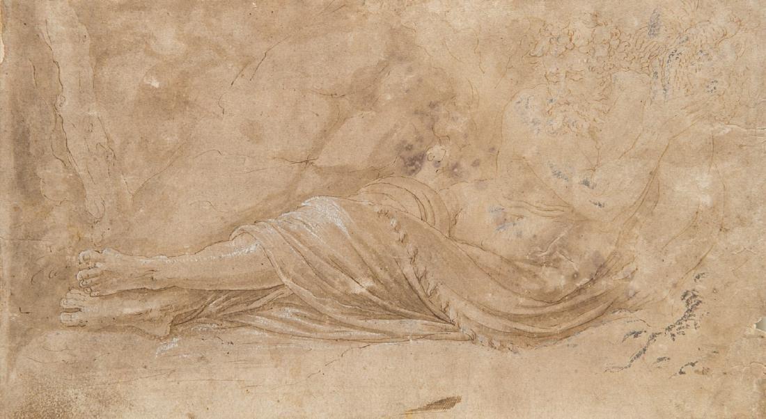 """Seguace di Giulio Romano """"Figura allegorica maschile"""""""