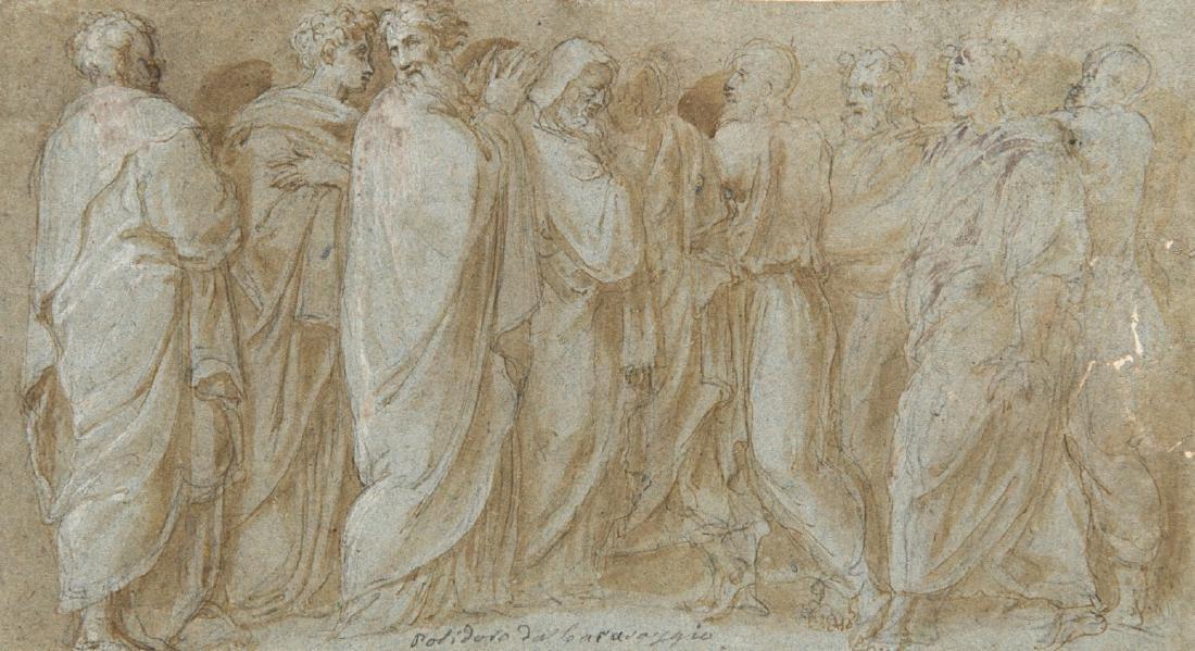 """Da Polidoro da Caravaggio """"Figure virili panneggiate"""""""