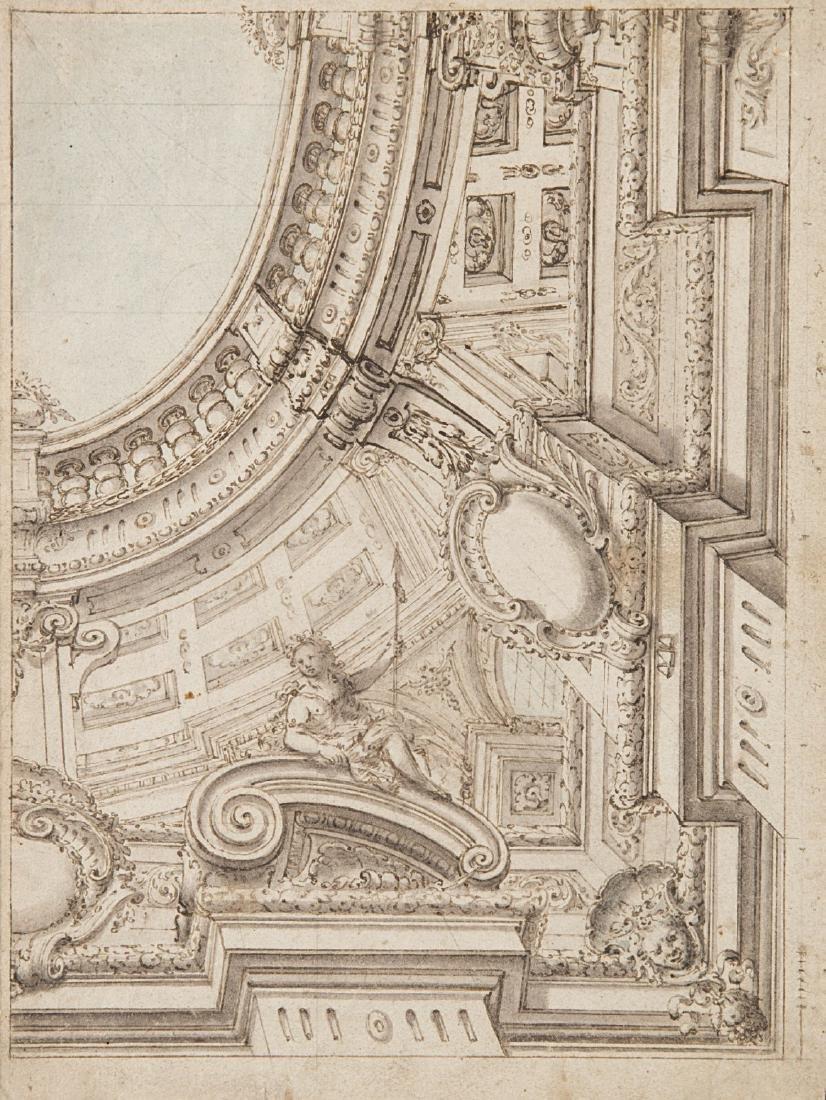 """Scuola bolognese del secolo XVIII """"Decorazione per"""