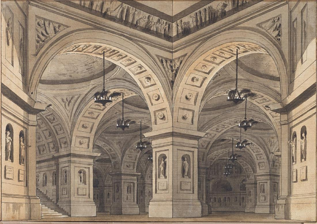 Alessandro Sanquirico (Milano 1777 - 1849)(attr.)