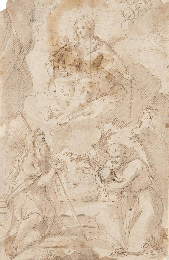 """Scuola emiliana del secolo XVI """"Madonna con Bambino,"""