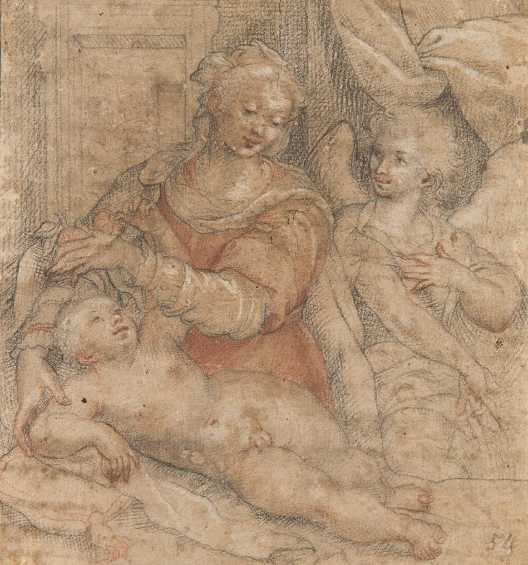 """Artista emiliano della fine del secolo XVI """"Vergine con"""