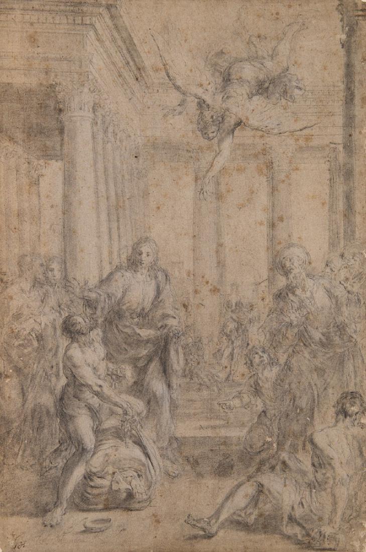 """Aureliano Milani (Bologna 1675 - Roma 1749)""""Cristo alla"""