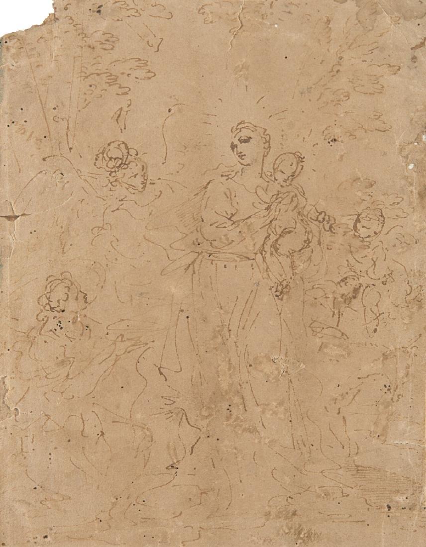 """Donato Creti (Cremona 1671 - Bologna 1749)""""Madonna con"""