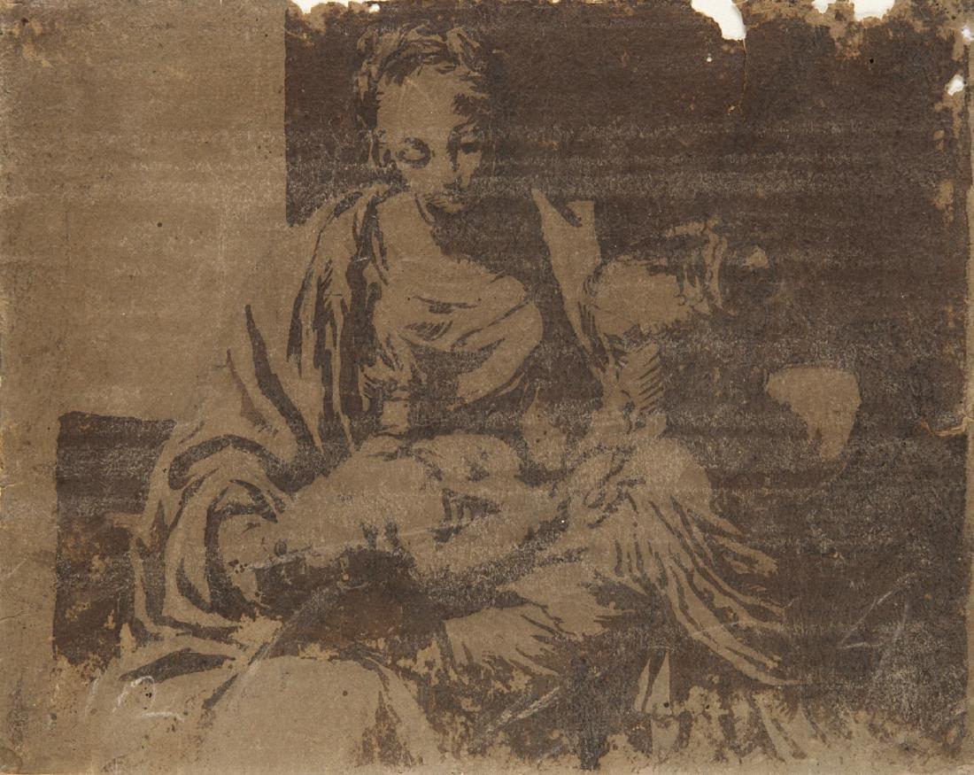 """Scuola veneta del secolo XVII """"Madonna con Bambino"""""""