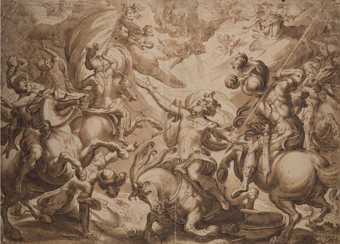 """Antonio Tempesta (Firenze 1555 - Roma 1630)(attr.) """"La"""