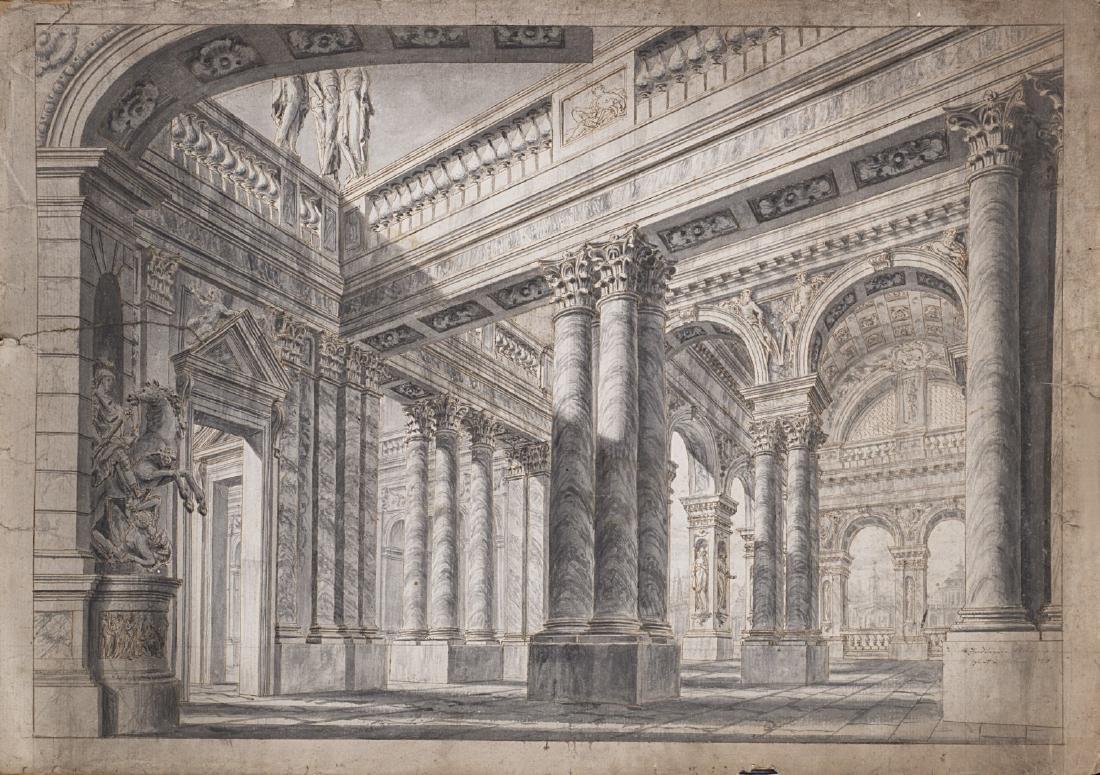 "Ferdinando Galli Bibiena (Bologna 1657 - 1743)""Cortile"
