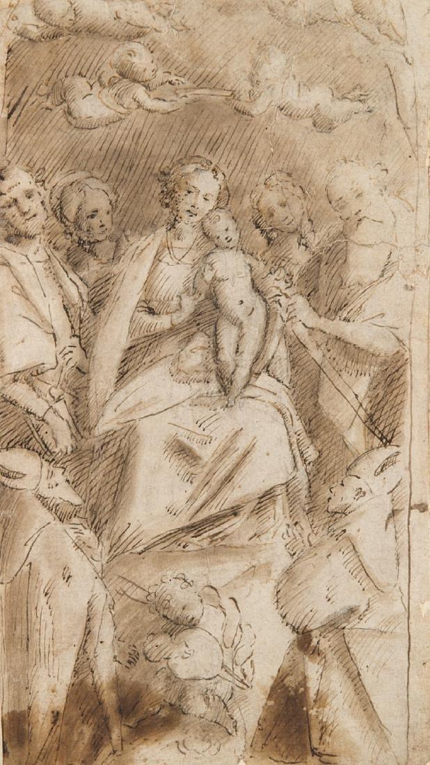 "Artista piemontese del secolo XVI ""Madonna con bambino"