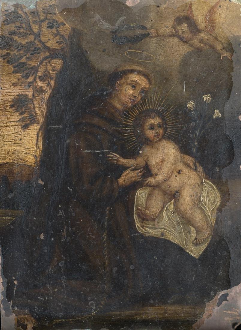 Scuola del secolo XVII Sant'Antonio con Gesù
