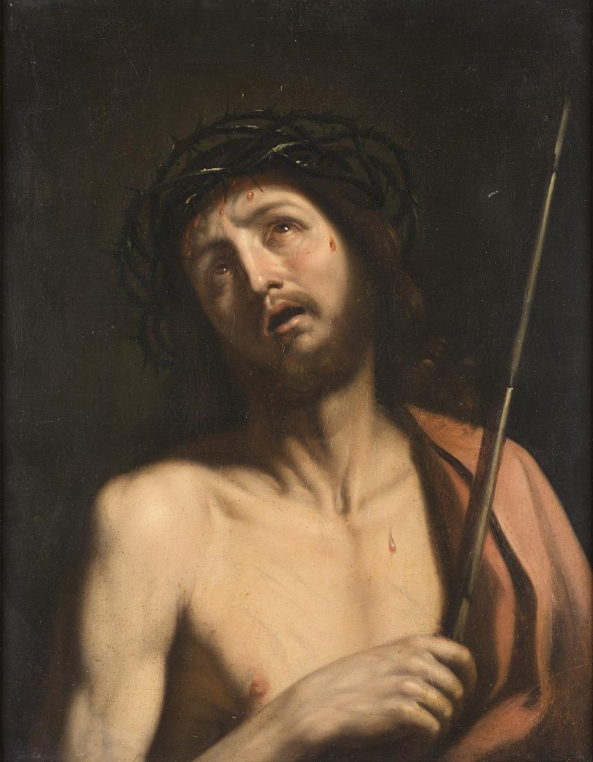 Seguace di GuercinoEcce Homoolio su tela cm 74x58,5