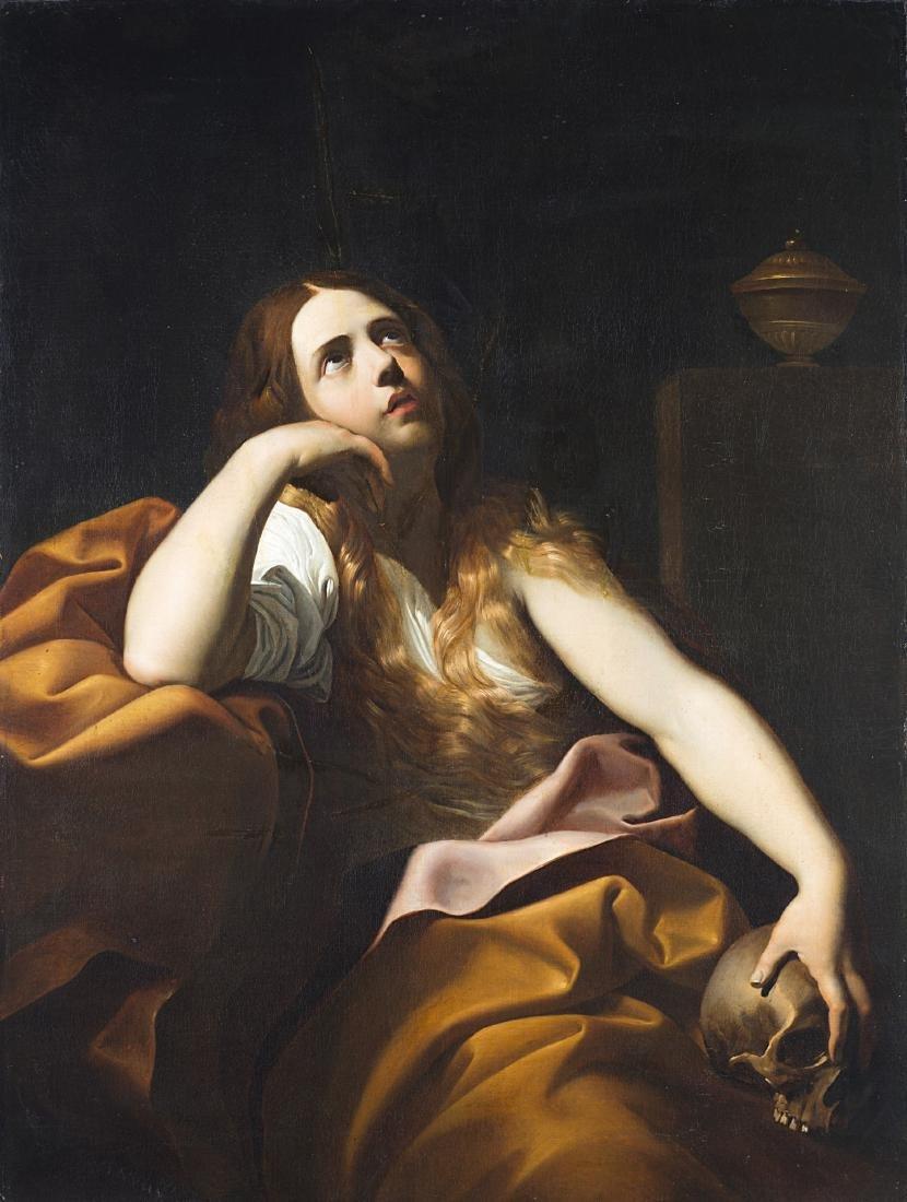 Seguace di Guido Reni, secolo XIXMaria Maddalenaolio su