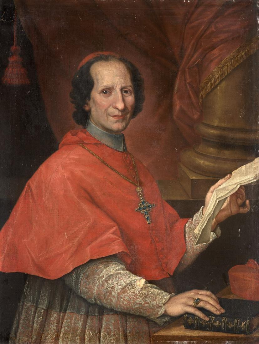 Scuola romana del secolo XVIIIRitratto di cardinale a