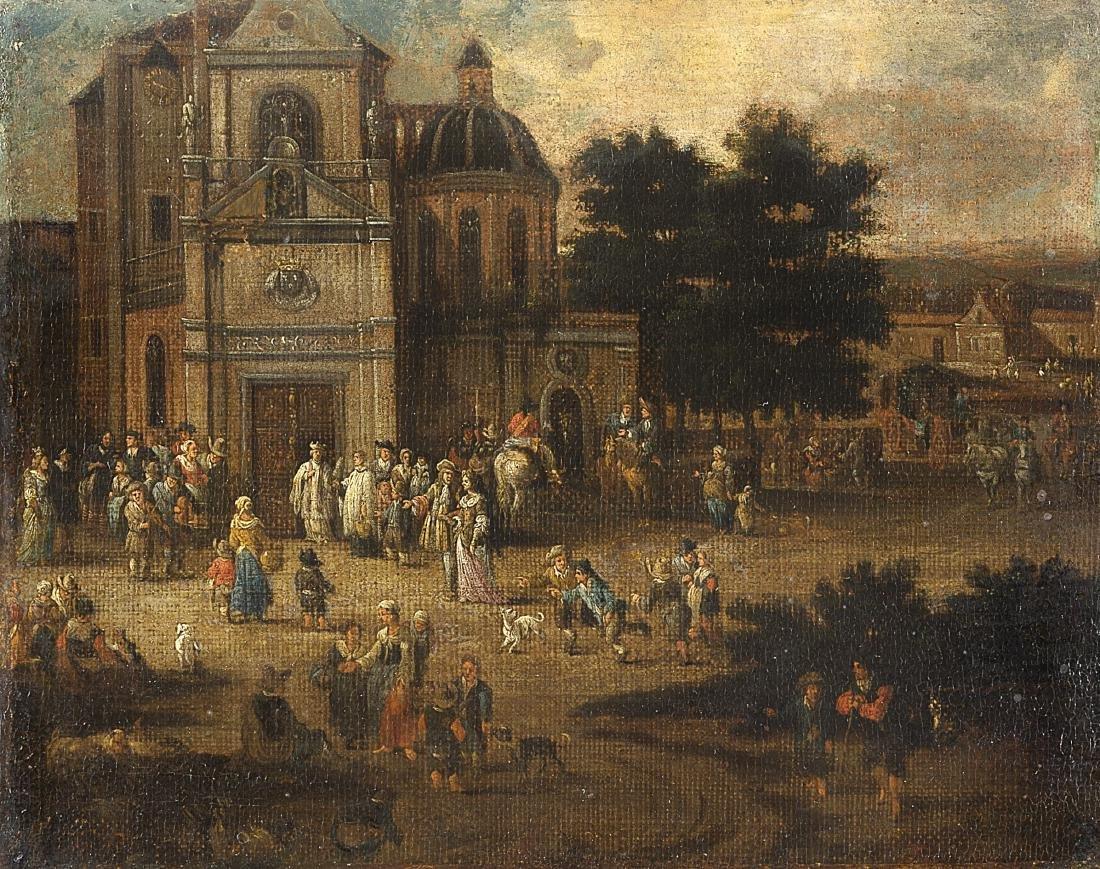 Scuola fiamminga del secolo XVIIDopo la messaolio su