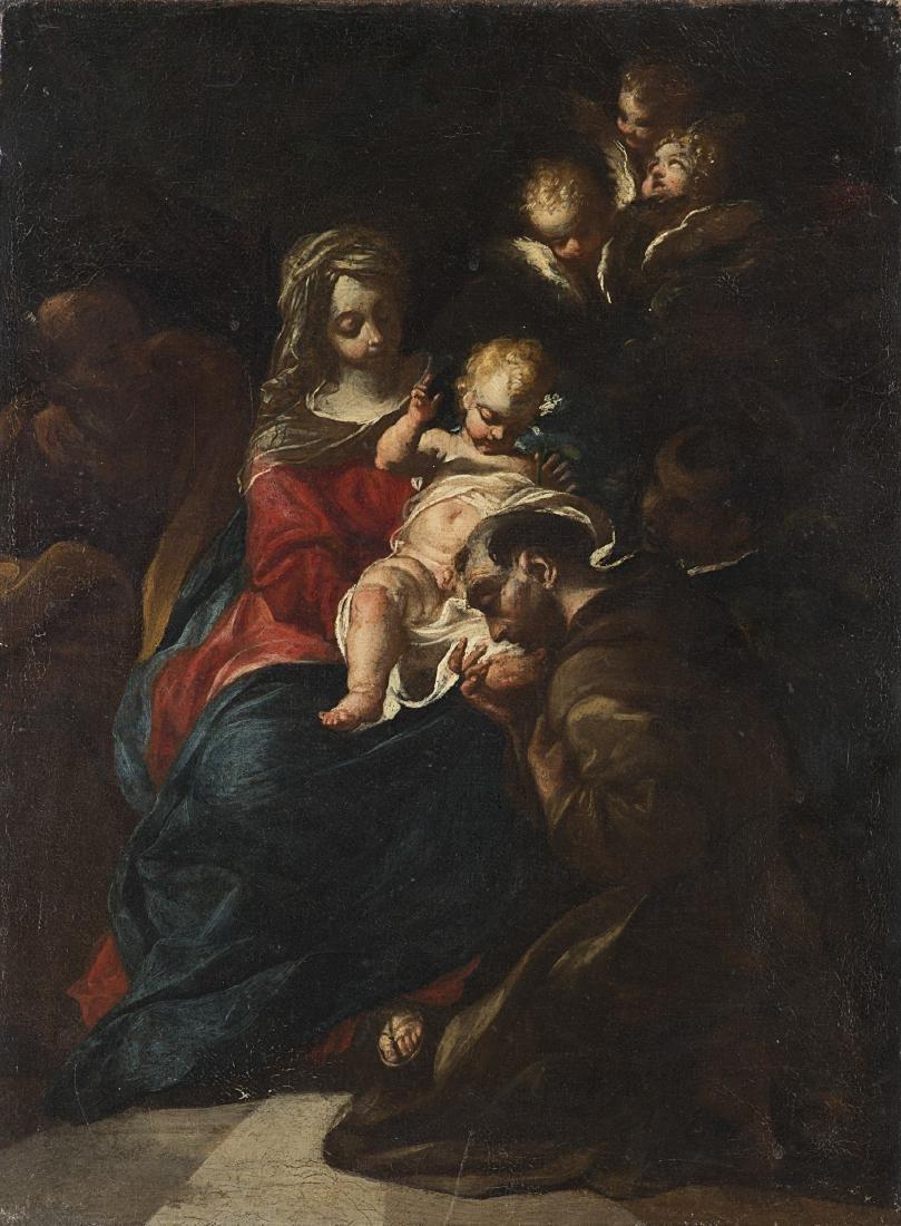 Scuola del secolo XVIIMadonna con Bambino e San