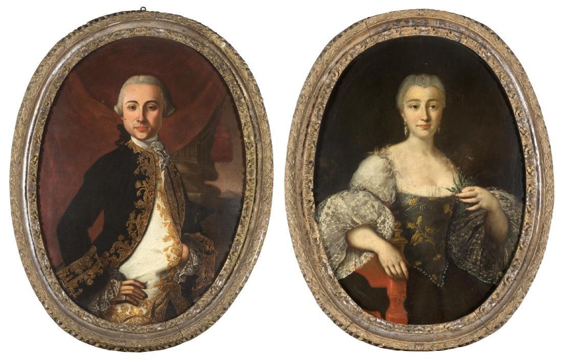 Carlo Amalfi (1752 - 1779)(attr.)Ritratto di gentiluomo