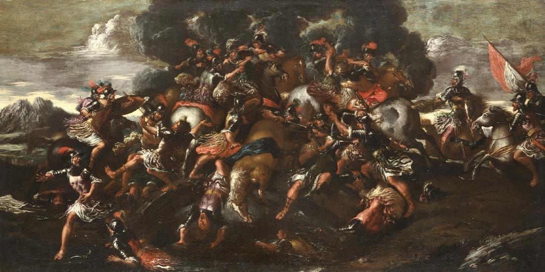 Maestro nordico (Austria?) del secolo XVII Battaglia di