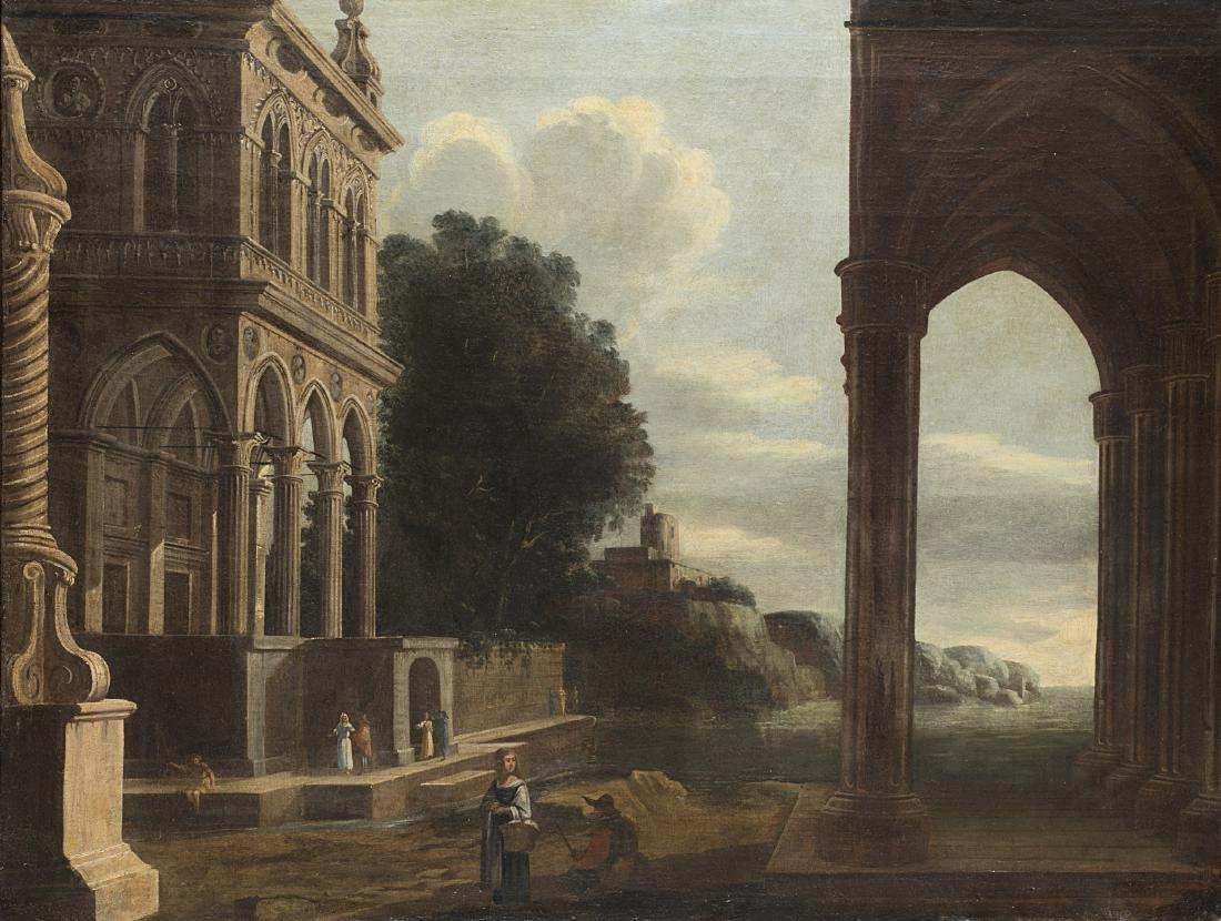 Cerchia di Niccolò Codazzi, secolo XVIICapriccio con