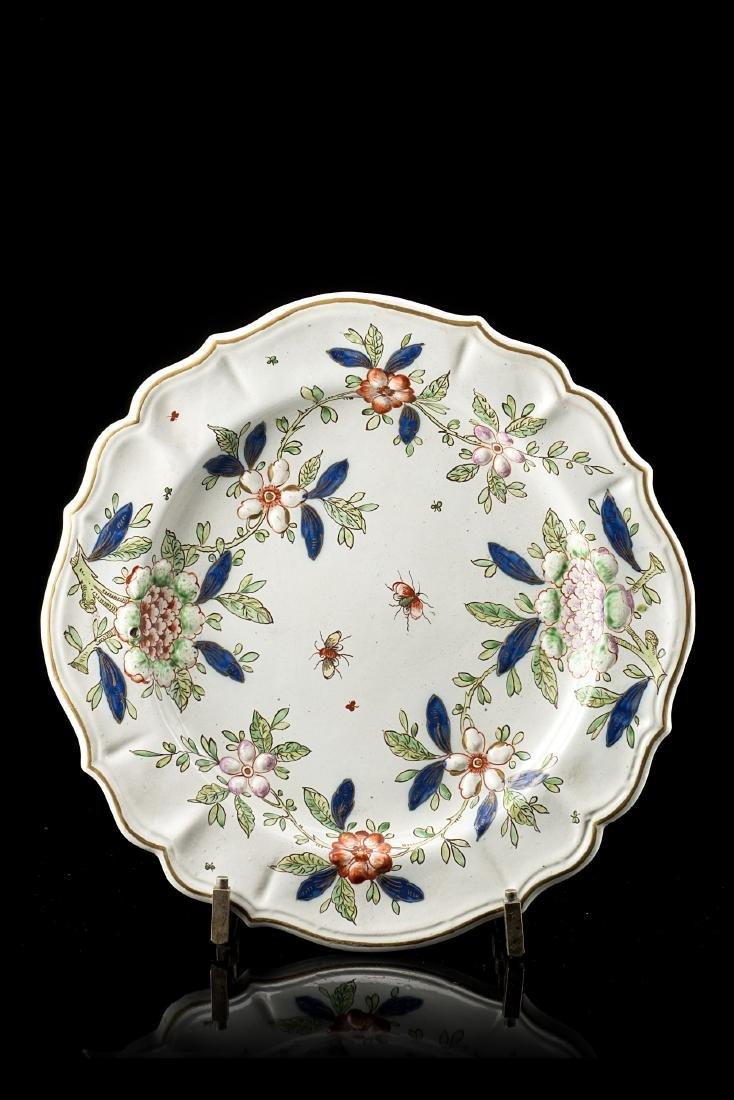 Manifattura di Pasquale Rubati, Milano, 1760/80. Piatto