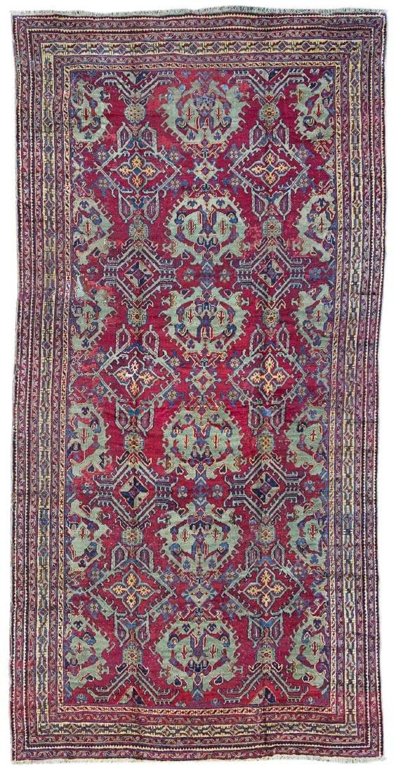 Tappeto Ushak, Anatolia, secolo XIX. Una bordura ampia
