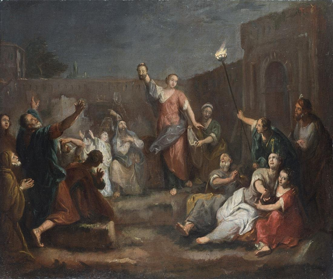 Giuseppe Nogari (Venezia 1699 - 1763)Giuditta mostra la