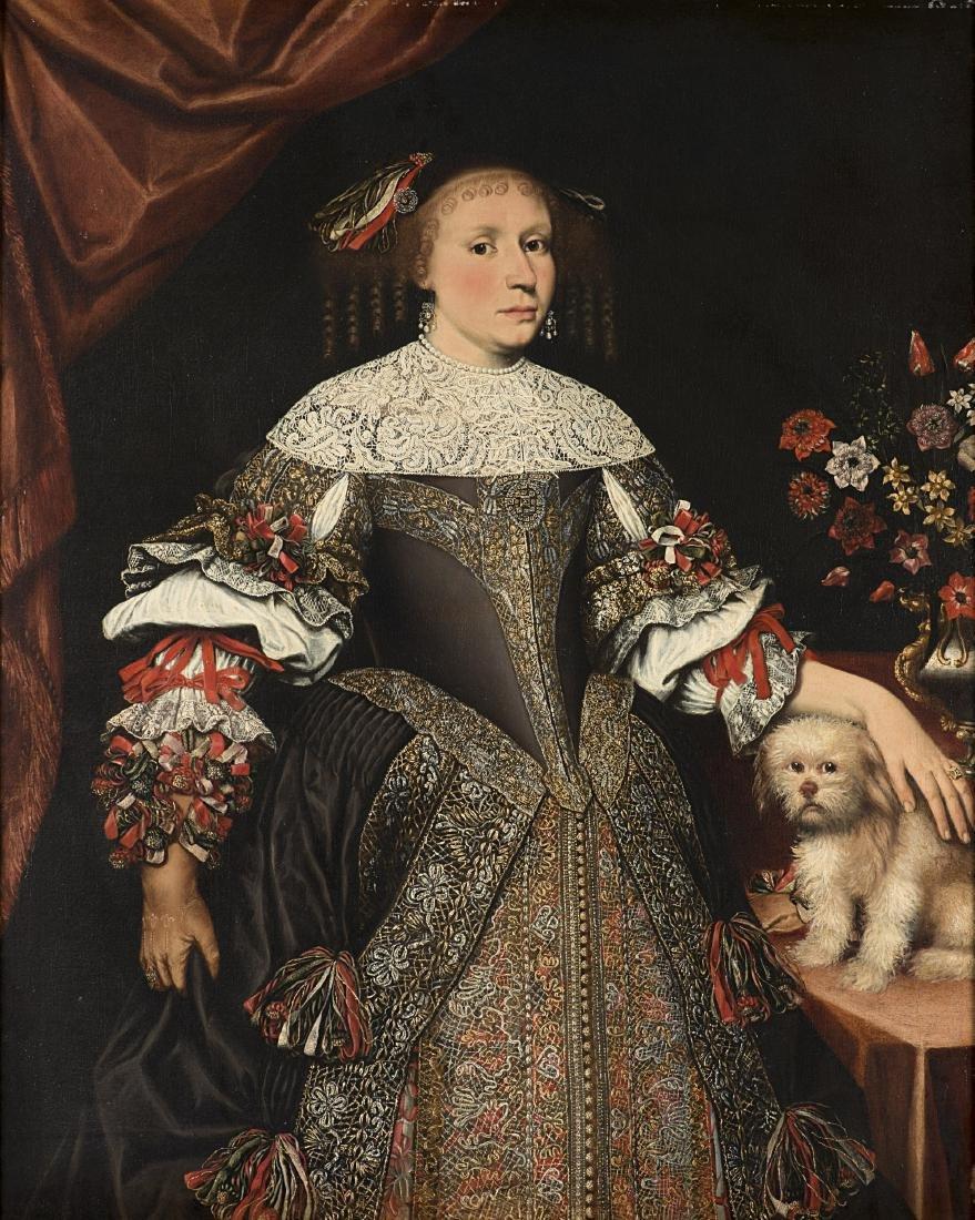 Maestro lombardo del secolo XVIIGentildonna in ricchi