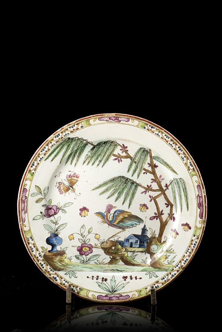 Manifattura di Pasquale Rubati, Milano 1770 Piatto in