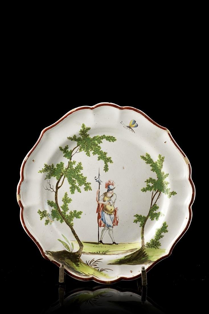 Manifattura di Felice Clerici, Milano 1756/80. Piatto