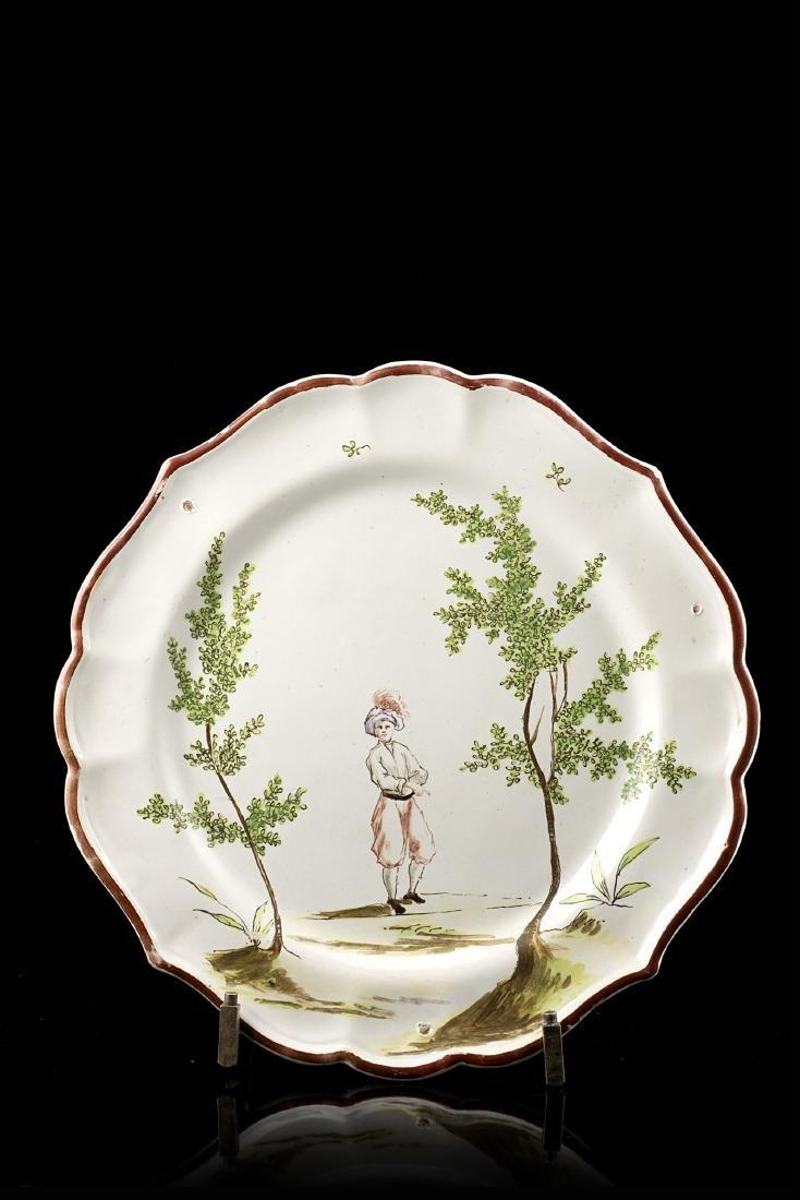 Manifattura di Felice Clerici, Milano, 1760/80. Piatto
