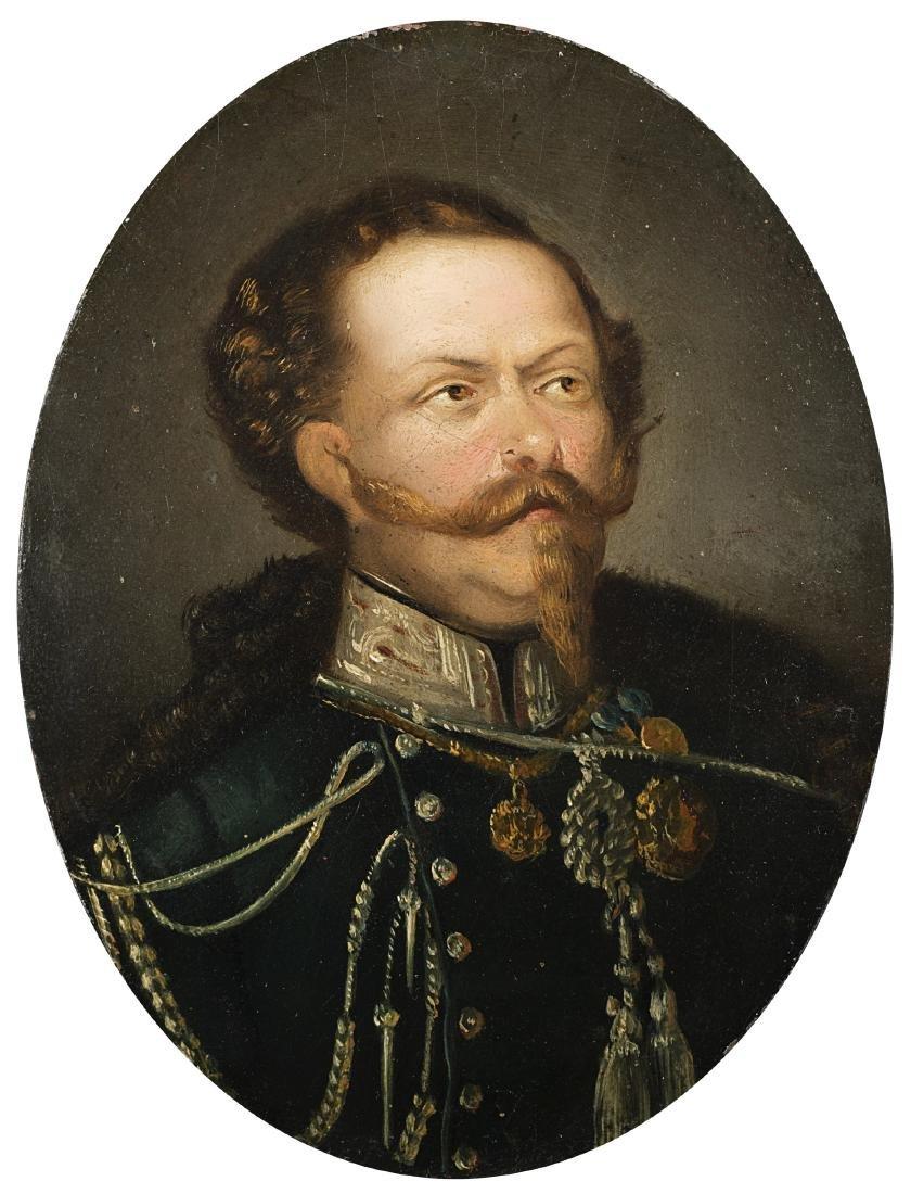 """Maestro del sec. XIX """"Ritratto di Vittorio Emanuele II"""""""