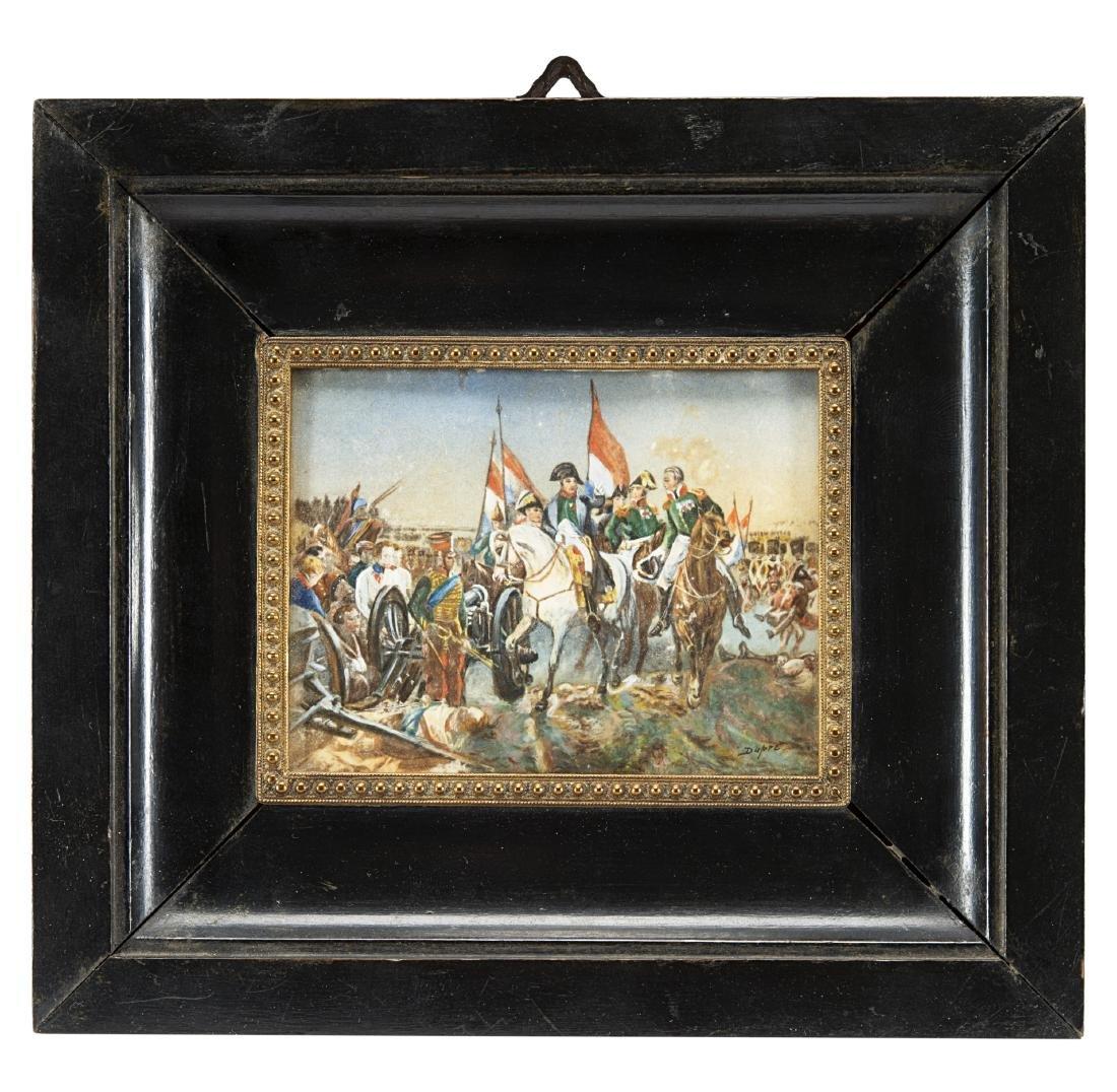 Miniatura su avoriolina raffigurante Napoleone ed il