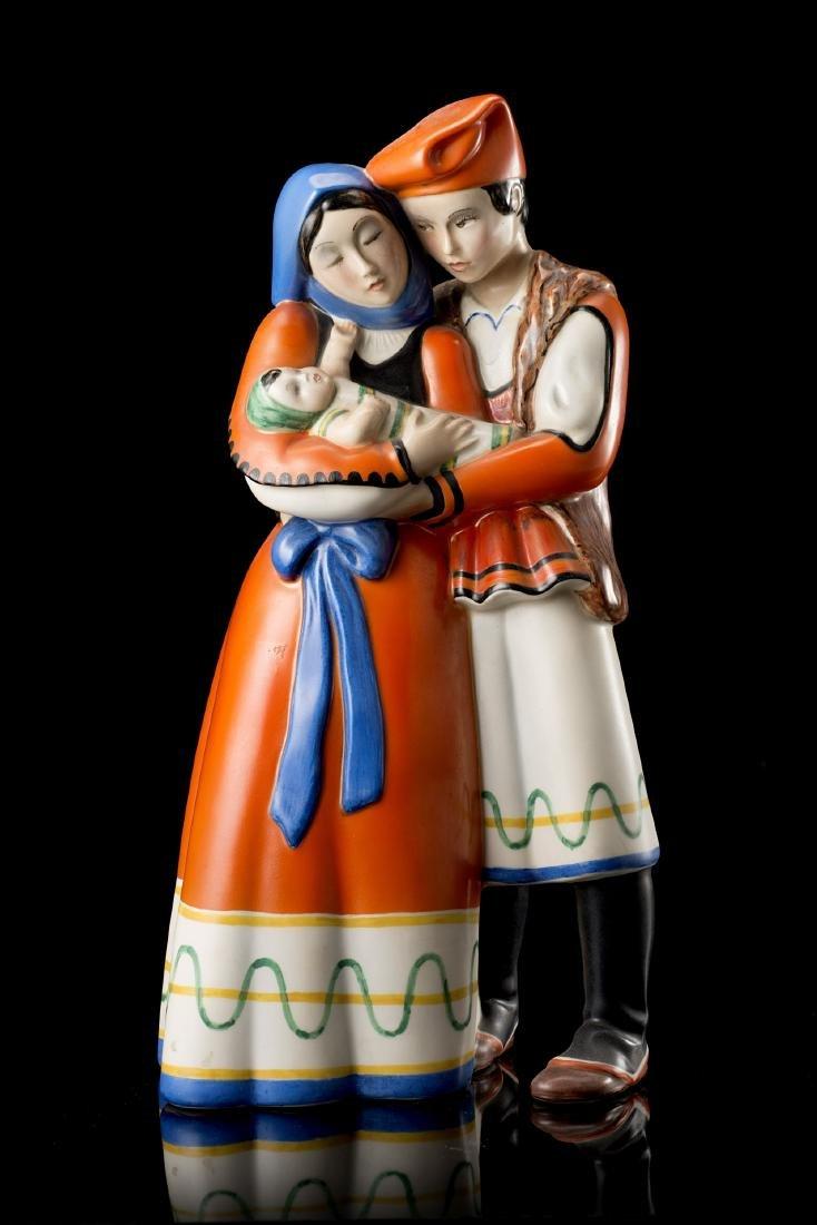 """Lenci """"Sposi sardi""""Ceramica formata a colaggio e"""
