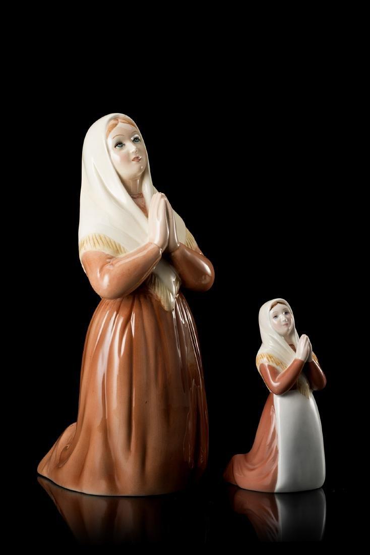 """Ronzan """"Donna in preghiera""""Lotto composto da due"""