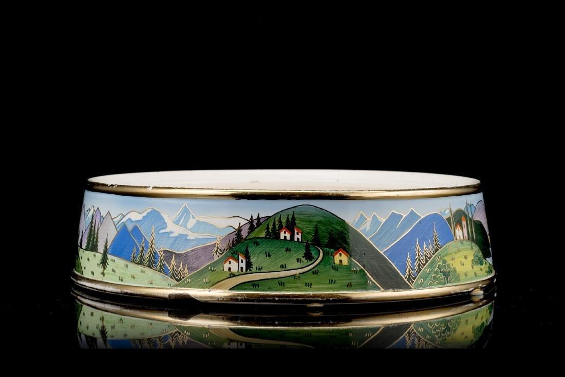 Lenci Scatola Viberti in ceramica formata a colaggio e