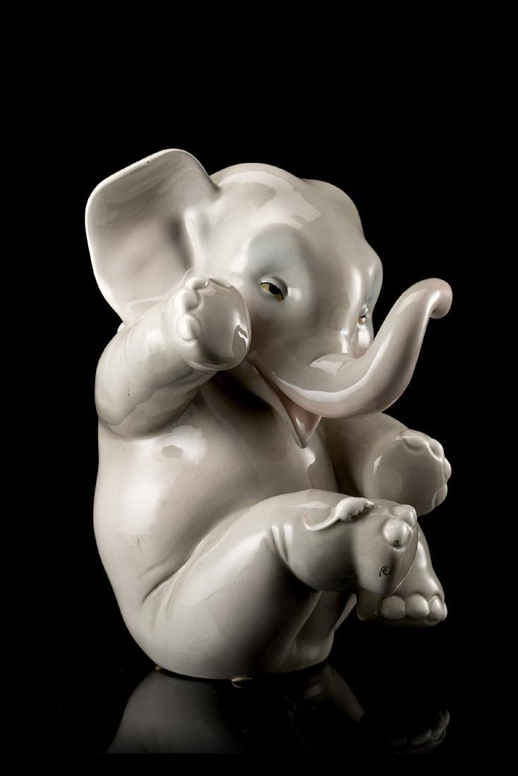 """Helen Konig Scavini (Torino 1886 - 1974)""""Elefante con"""