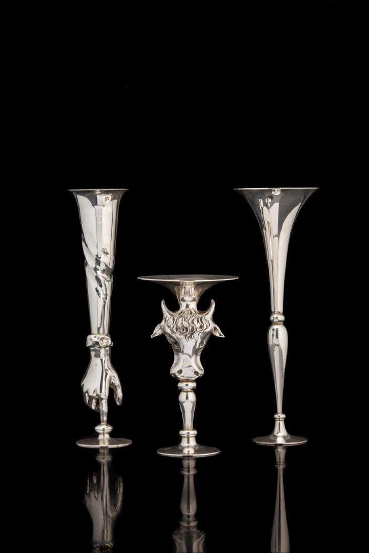 Tre vasi in argento (925/1000) della collezione