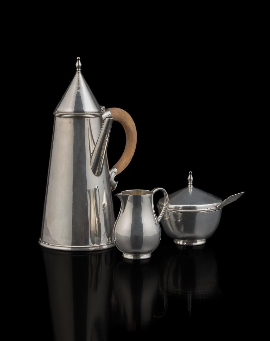 Servizio da caffè in argento 950/1000 composto da