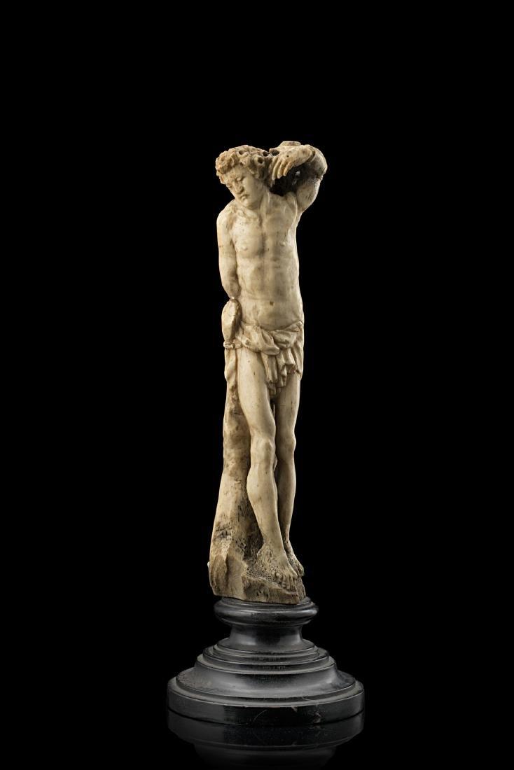 """Artista del secolo XVIII """"San Sebastiano"""" scultura in"""