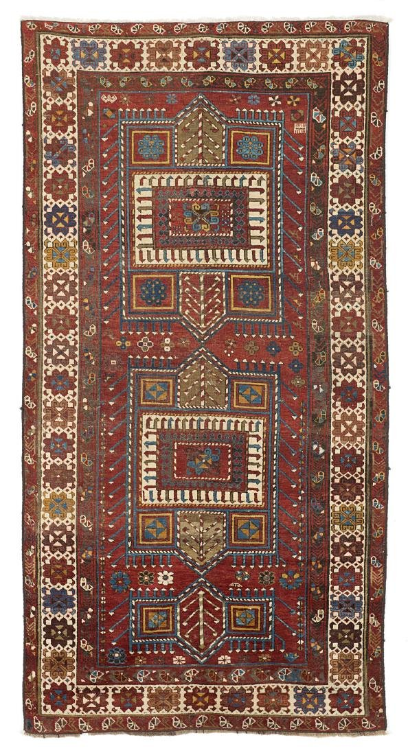 Tappeto Kazak, Caucaso, inizio secolo XX. Disegno a