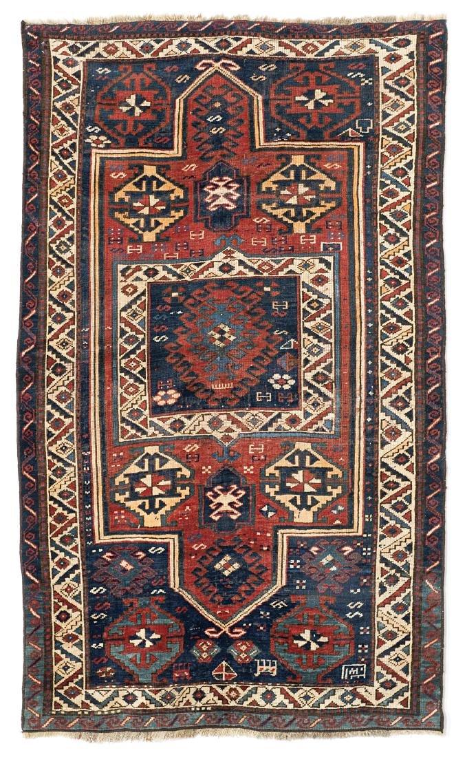 Tappeto Kazak, Caucaso, fine secolo XIX. Disegno a